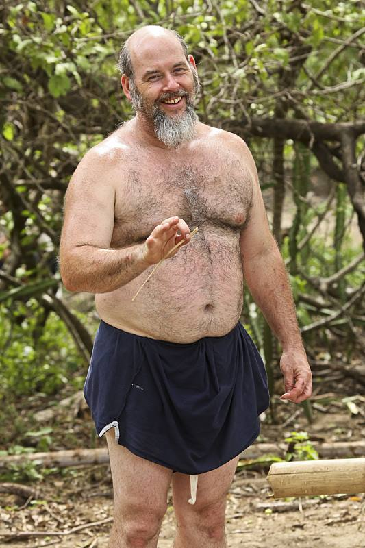 "A screenshot of Dan Foley during Week 2 of ""Survivor."""