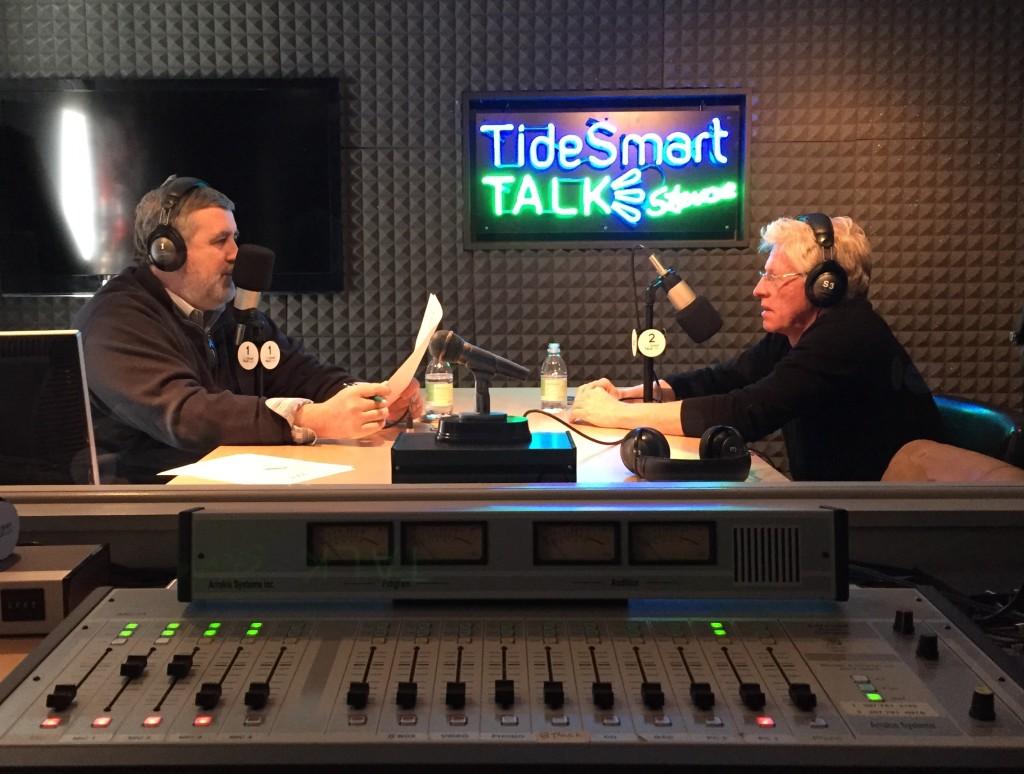 Host of TideSmart Talk with Stevoe, Steve Woods, recently welcomed Publisher Mark Guerringue (right).