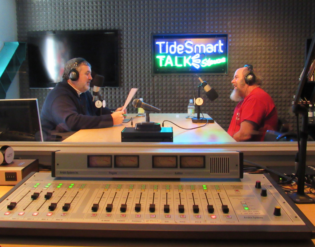 Host of TideSmart Talk with Stevoe, Steve Woods, previously welcomed former Survivor contestant Dan Foley (at right from a previous interview).