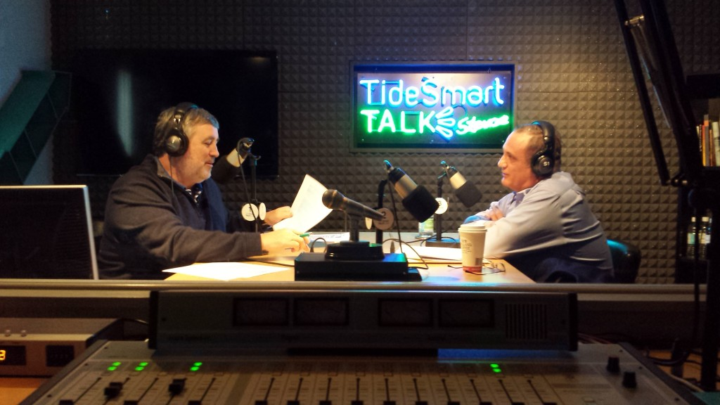 Host of TideSmart Talk with Stevoe, Steve Woods, recently welcomed President of Summit Natural Gas of Maine Mike Tanchuk. (right)
