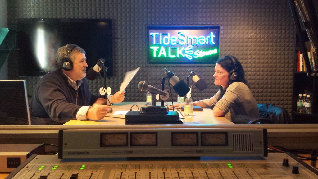 Host of TideSmart Talk with Stevoe, Steve Woods, recently welcomed General Manager of the State Theatre Lauren Wayne (right).