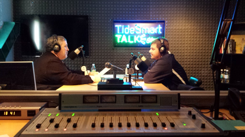 Host of TideSmart Talk with Stevoe, Steve Woods, recently welcomed Executive Vice President and General Manager of the Portland Sea Dogs Geoff Iacuessa. (right)