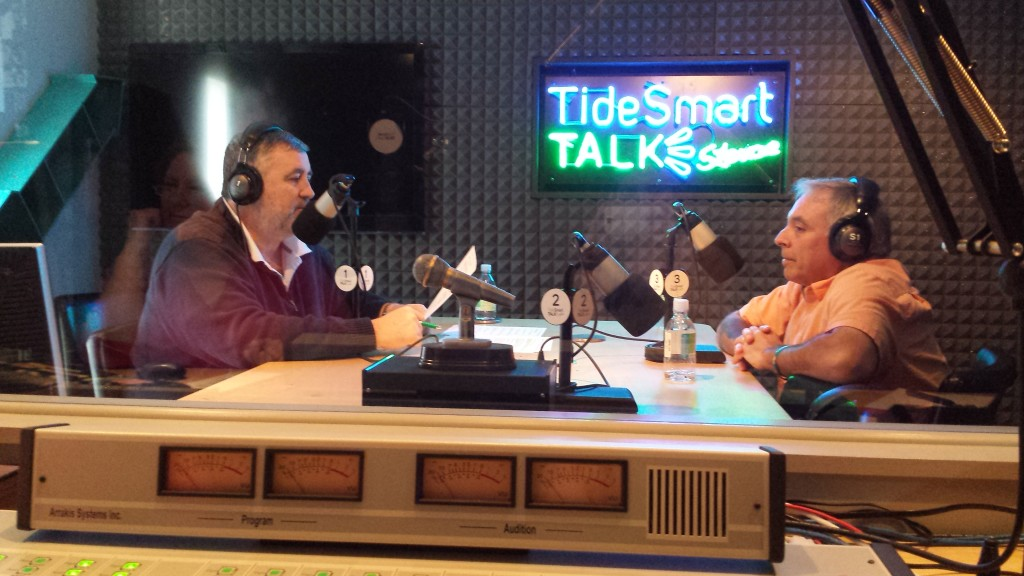 Host of TideSmart Talk with Stevoe, Steve Woods, welcomed entrepreneur Reade Brower, who recently purchased MaineToday Media (at right).