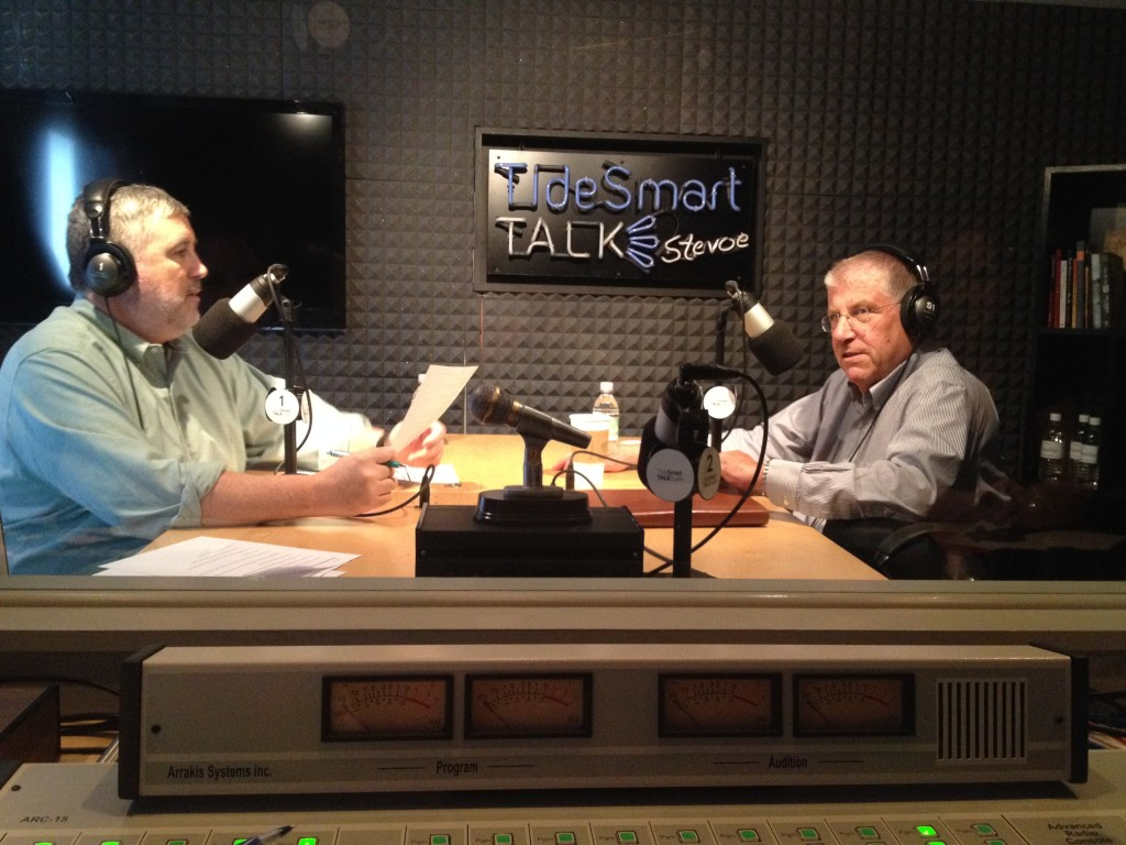 Host of TideSmart Talk with Stevoe, Steve Woods, recently welcomed former gubernatorial candidate, Eliot Cutler (right).