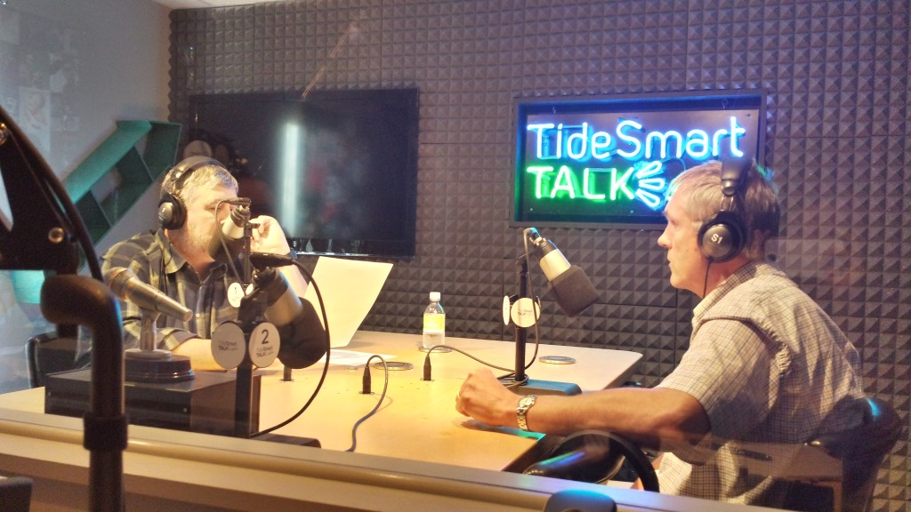 Host of TideSmart Talk with Stevoe, Steve Woods, welcomed Portland City Councilman, Jon Hinck (at right).