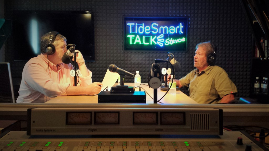 Host of TideSmart Talk with Stevoe, Steve Woods, welcomed the Director of the UMaine Climate Institute, Paul Mayewski (at right).