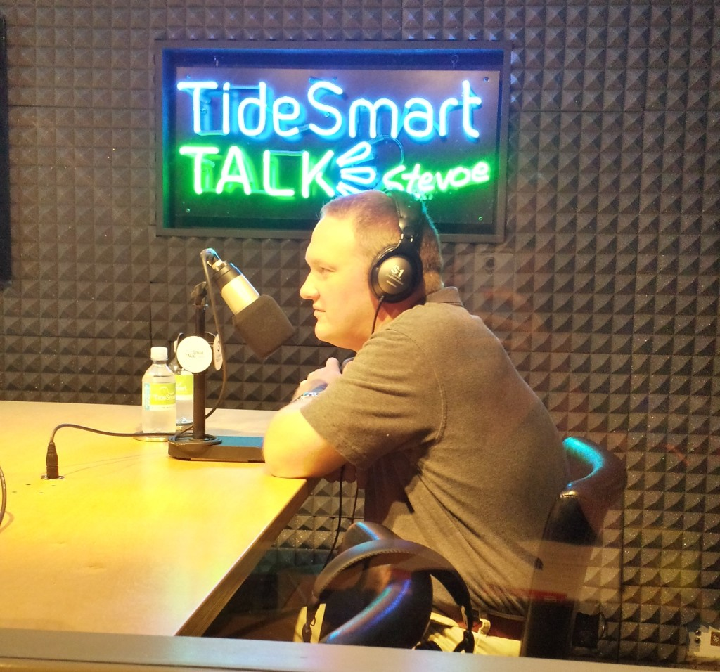 Host of TideSmart Talk with Stevoe, Steve Woods, welcomed Pete Brown, Associate Director of PSL/STRIVE(at right).