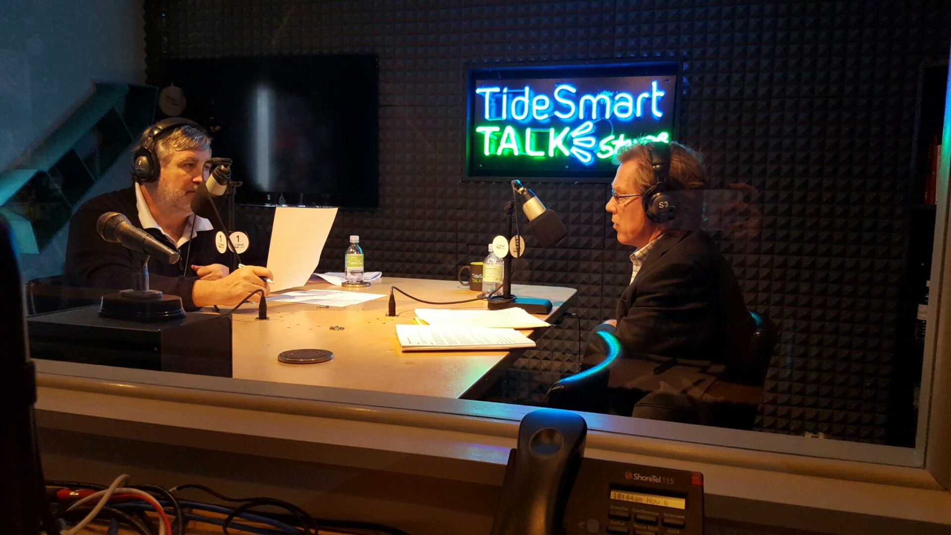 Host of TideSmart Talk with Stevoe, Steve Woods, welcomed President and CEO of Avesta Housing, Dana Totman (at right).