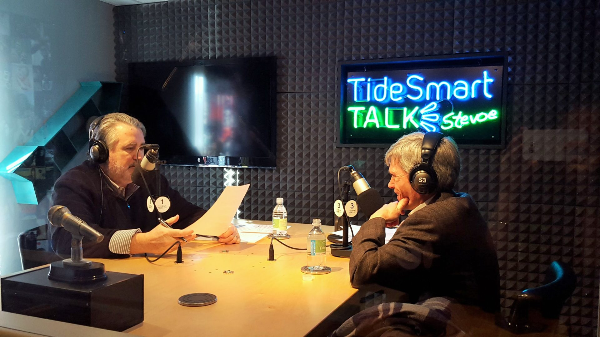 Host of TideSmart Talk with Stevoe, Steve Woods, welcomed Director of the Portland International Jetport, Paul Bradbury (at right).