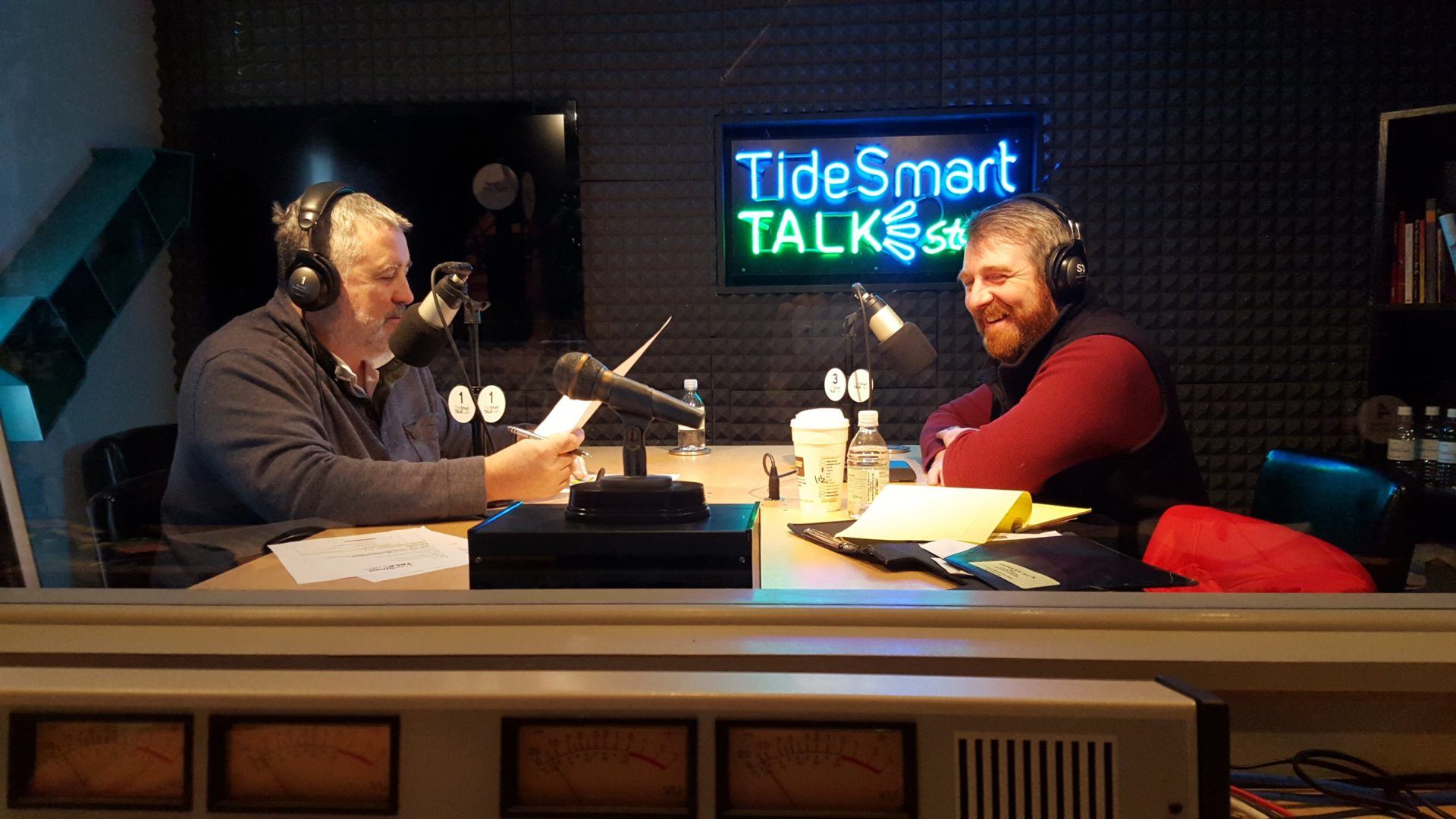 Host of TideSmart Talk with Stevoe, Steve Woods, welcomed Ben Waxman (at right).