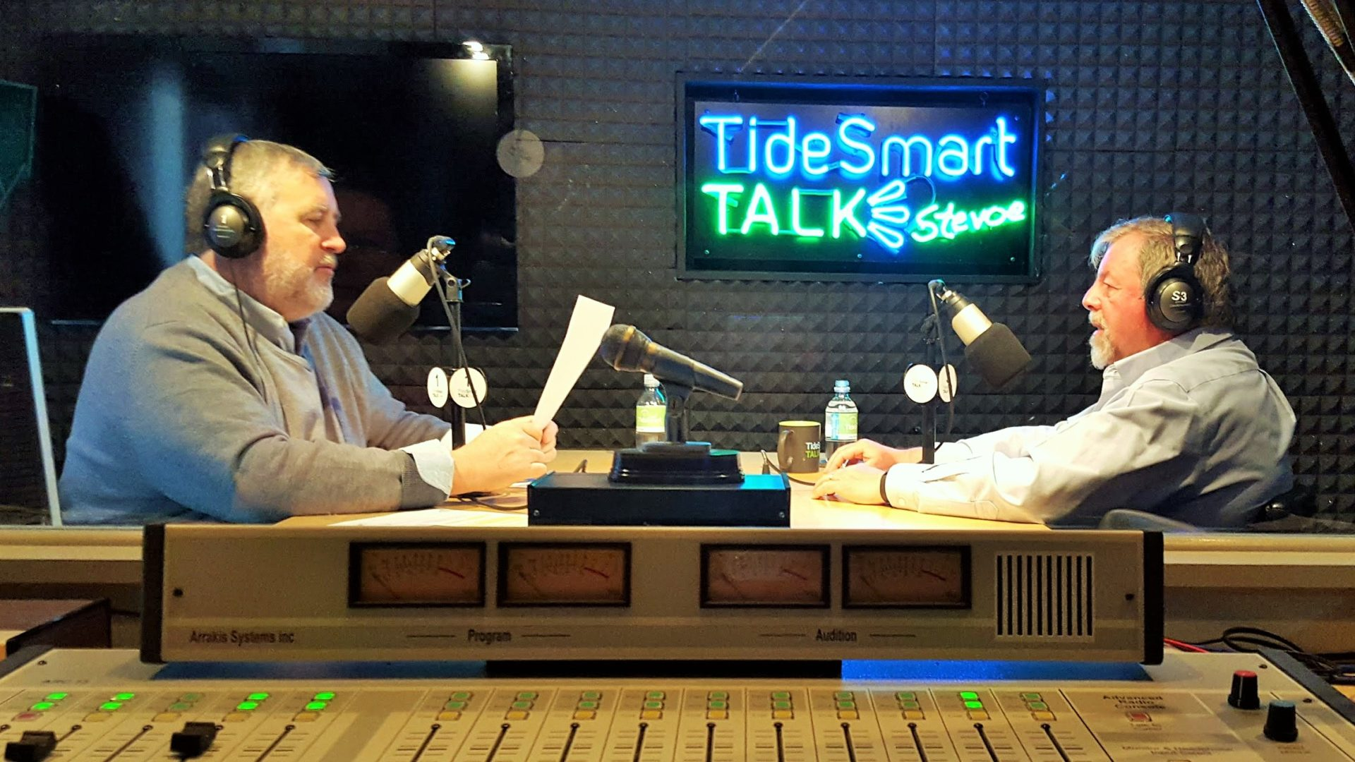 Host of TideSmart Talk with Stevoe, Steve Woods, welcomed the Executive Director of the Midcoast Regional Redevelopment Authority, Steve Levesque (at right).