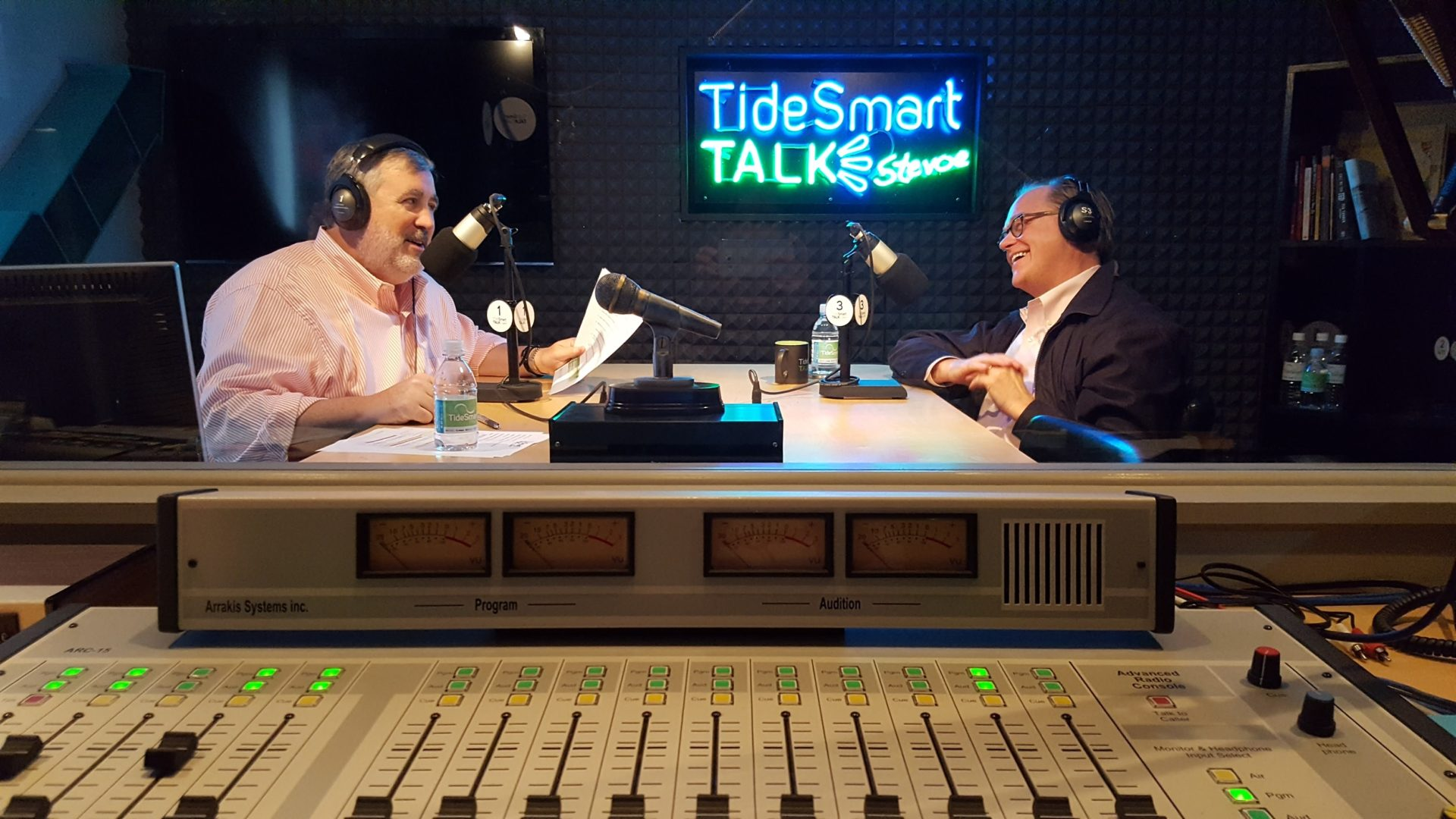 Host of TideSmart Talk with Stevoe, Steve Woods, welcomed Co-Founder of Rancourt & Co. Shoecrafters, Mike Rancourt (at right).