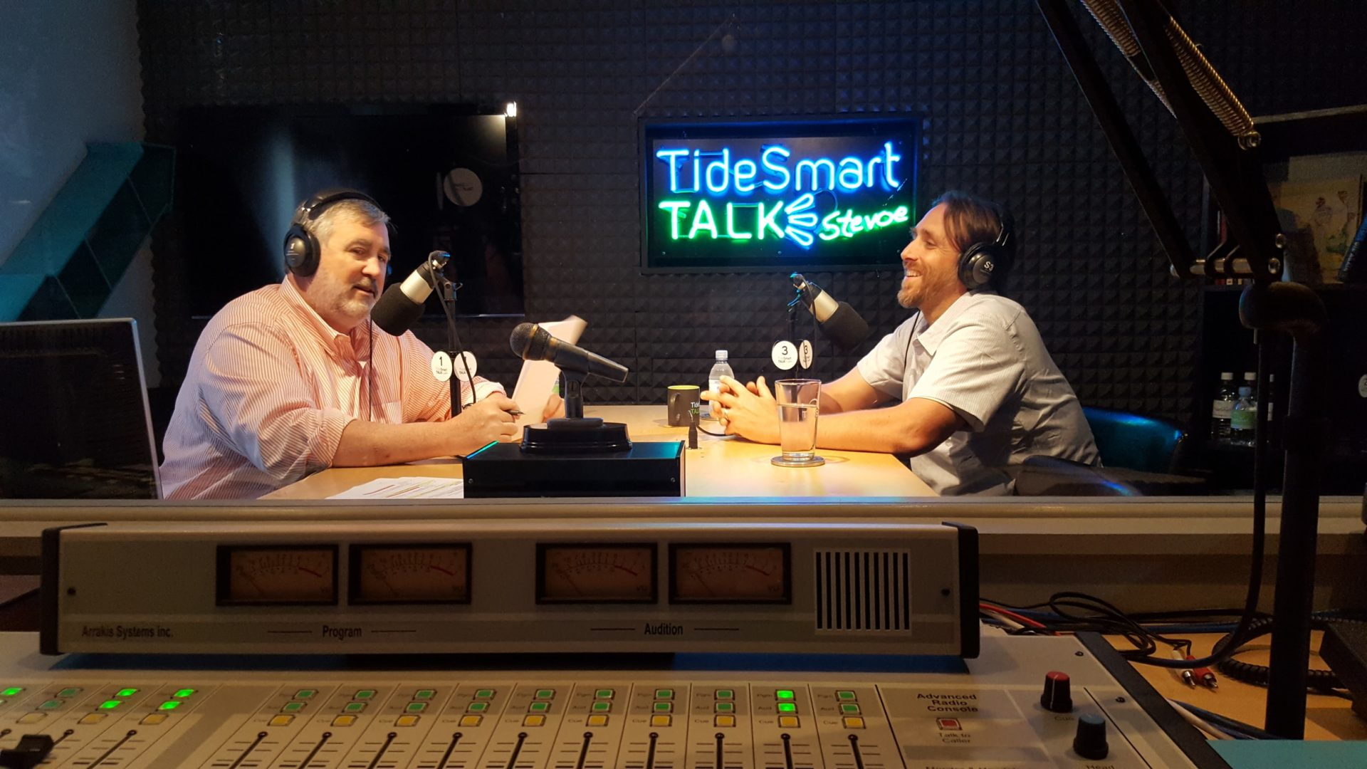Host of TideSmart Talk with Stevoe, Steve Woods, welcomed Owner of Insource Renewables, Vaughn Woodruff (at right).