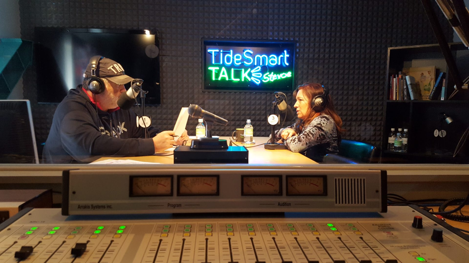 Host of TideSmart Talk with Stevoe, Steve Woods, welcomed the founder of The Anthony Bates Foundation, Sharon Bates (at right).