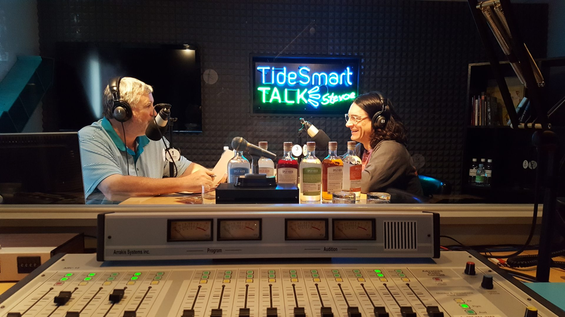 Host of TideSmart Talk with Stevoe, Steve Woods, welcomed Topher Mallory(at right).