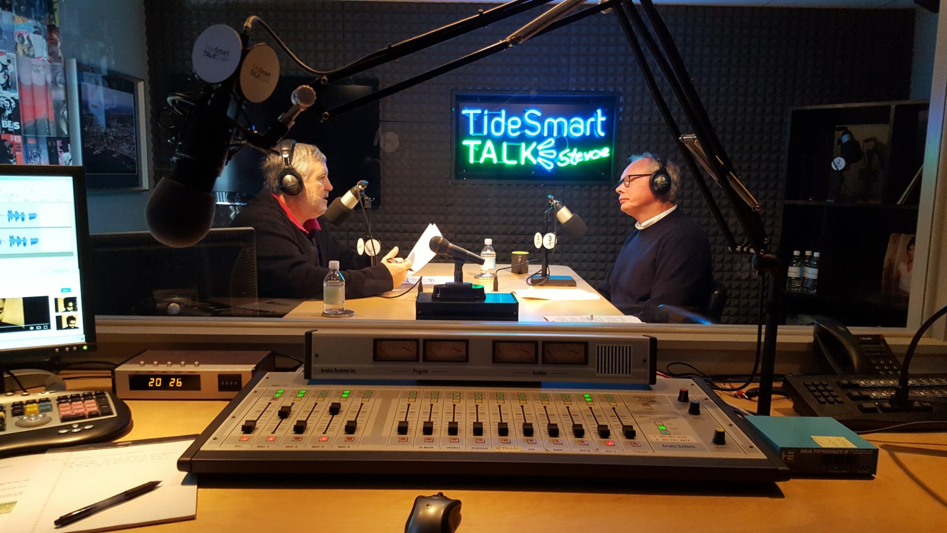 Host of TideSmart Talk with Stevoe, Steve Woods, welcomed Scott Planting, President of Maine Seacoast Mission (at right).