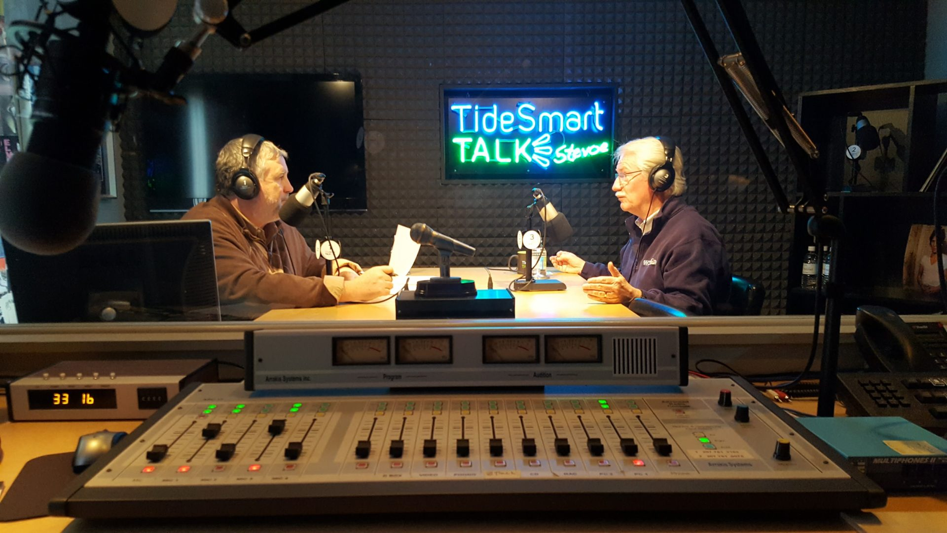 Host of TideSmart Talk with Stevoe, Steve Woods, welcomed Bill Green (at right).