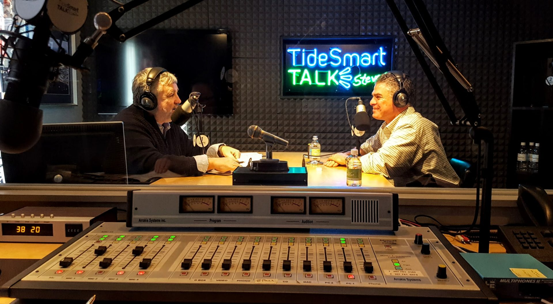 Host of TideSmart Talk with Stevoe, Steve Woods, welcomed Ethan Strimling, Mayor of Portland (at right).