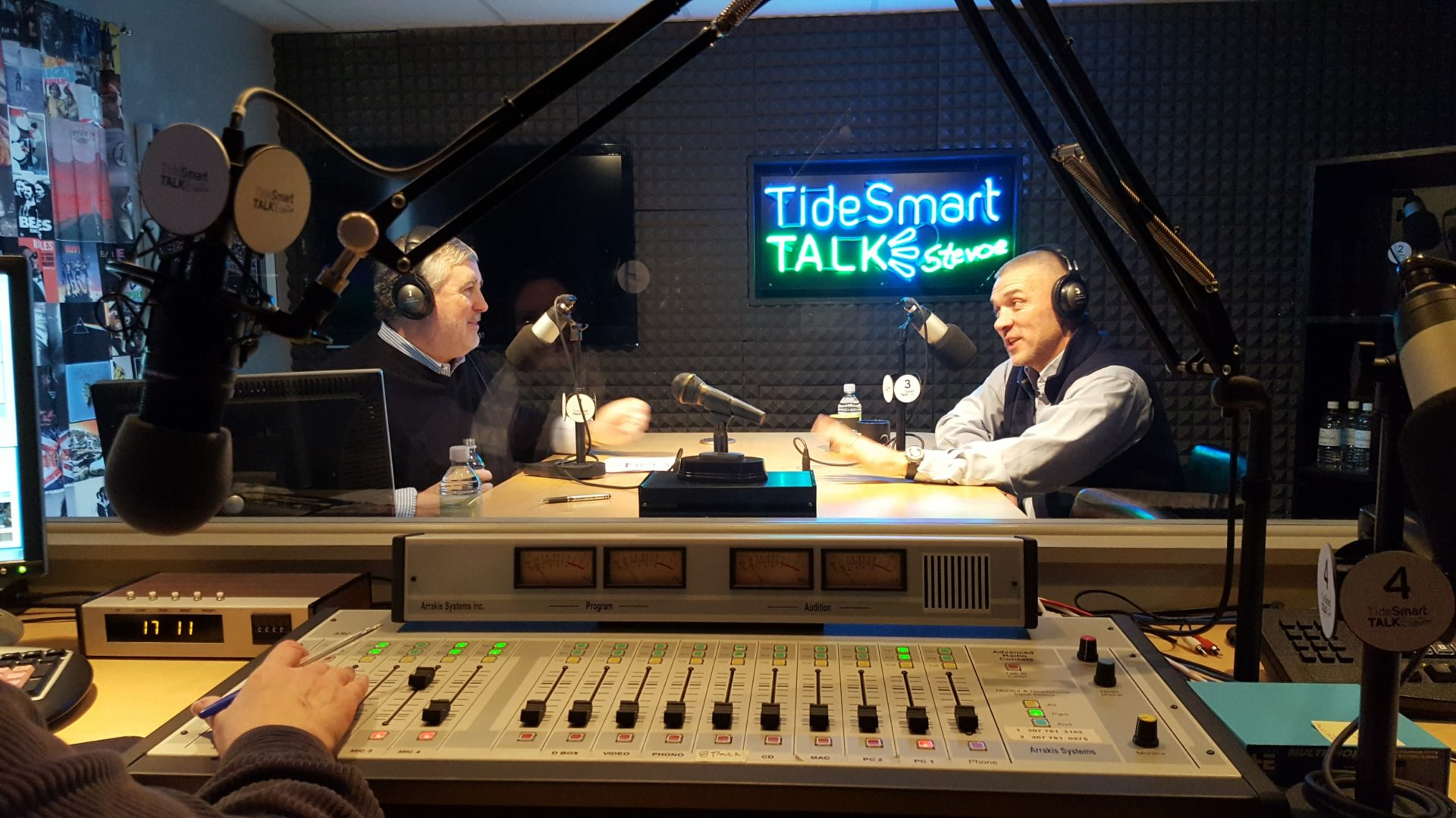 Host of TideSmart Talk with Stevoe, Steve Woods, welcomed YHS Boys' Soccer Coach, Mike Hagerty (at right).